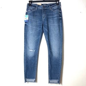 🔵 Silver Jeans Calley Ankle Skinny Distressed